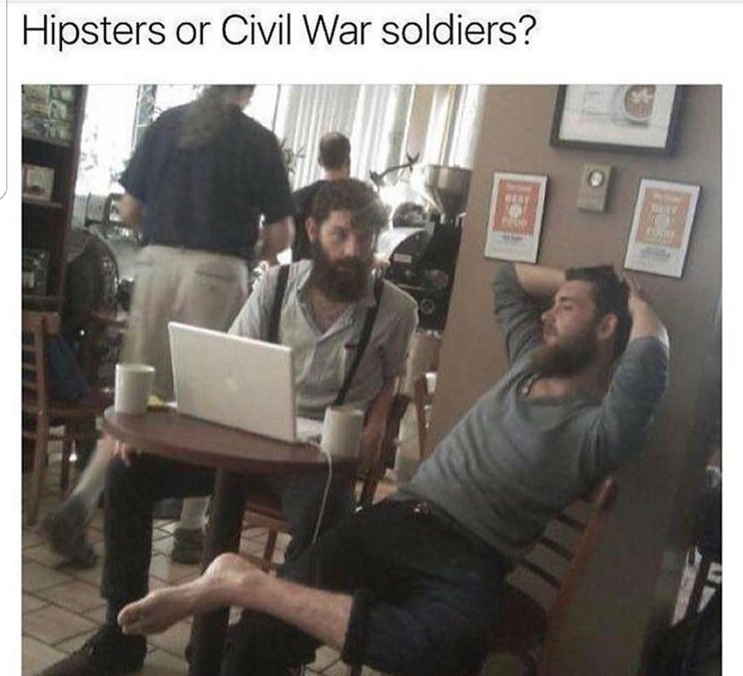 Confederates used apple - meme