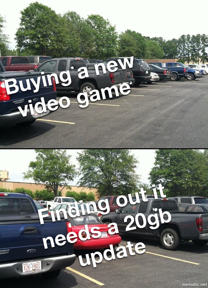 Buying a new video game - meme