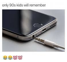 Only 90's will remember the aux cord for iphone - meme