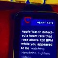 Apple watch detected a heart rate that rose above 120 BPM
