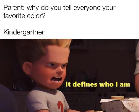 It defines who I am. - meme