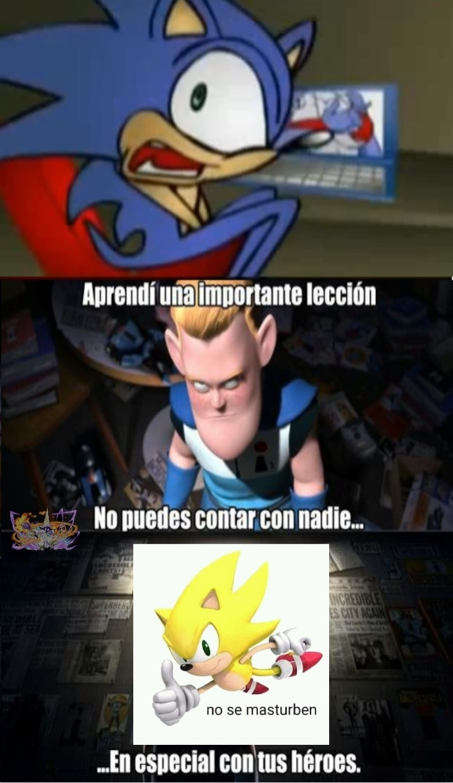 Por qué Sonic? :^( - meme