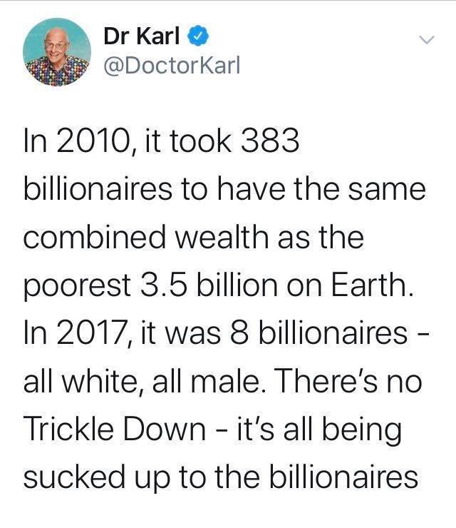 it doesn't trickle down - meme