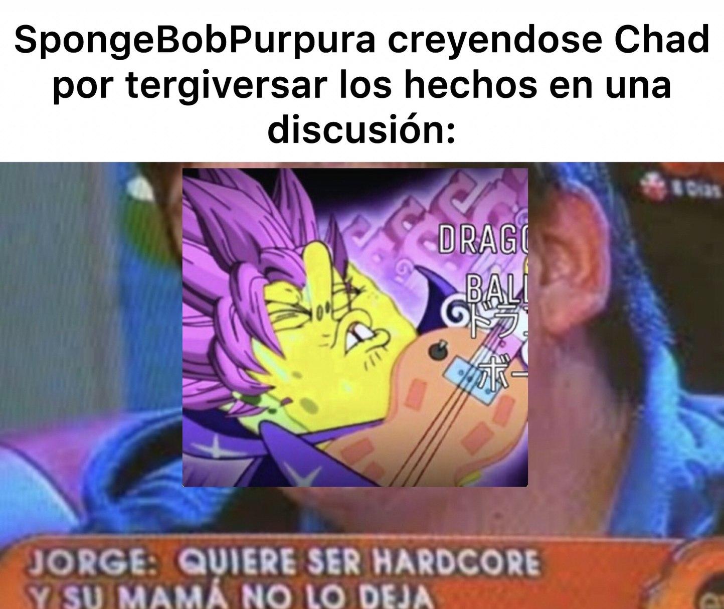 SpongeSoyUnaDecepcionBobPurpura - meme