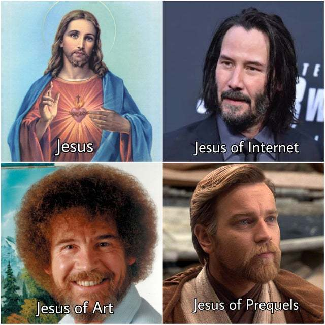 Different types of Jesus - meme