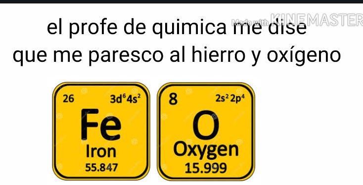 Hierro y oxigeno - meme