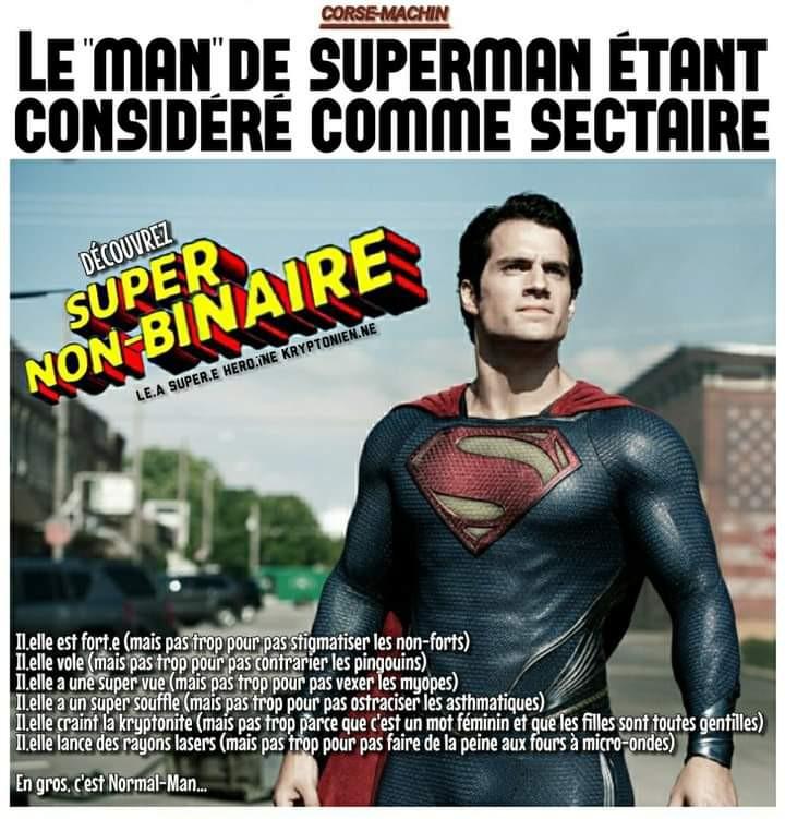 Un super-héros progressiste - meme