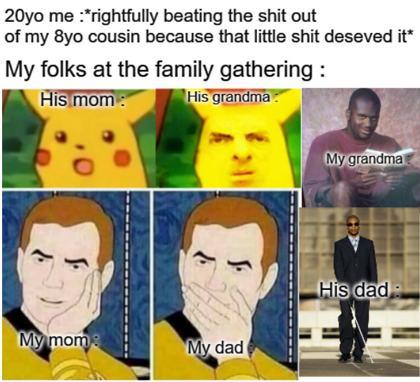 I too love my family - meme