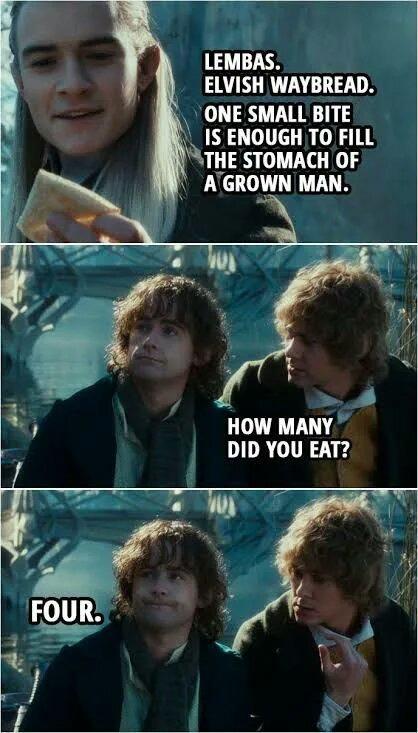 Hobbit hungry - meme