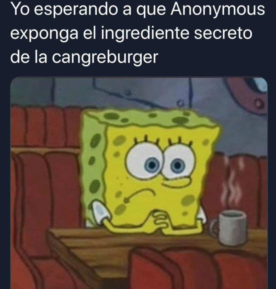 Hasta cuándo podremos saber la receta secreta de las cangreburger - meme