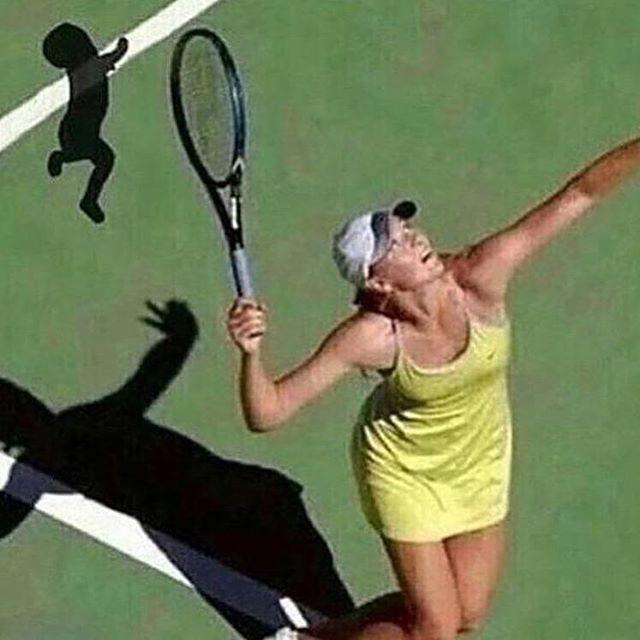 blursed tennis - meme
