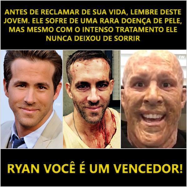 Não reclame da sua vida, seja como o Ryan - meme