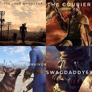 Os heróis de todos os Fallouts modernos. Se for repost não passa - meme