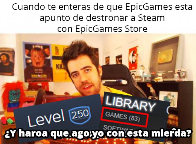 Vendo cuenta level 250 con 83 juegos de Steam :D - meme