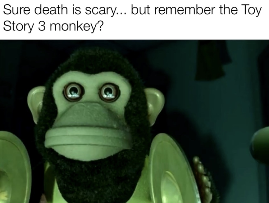 Remember that cursed monkey in toy story 3? - meme
