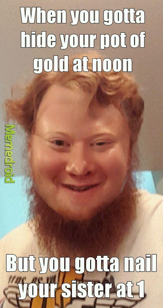 Downsy leprechaun - meme