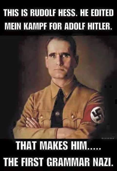 Grammar Nazi - meme