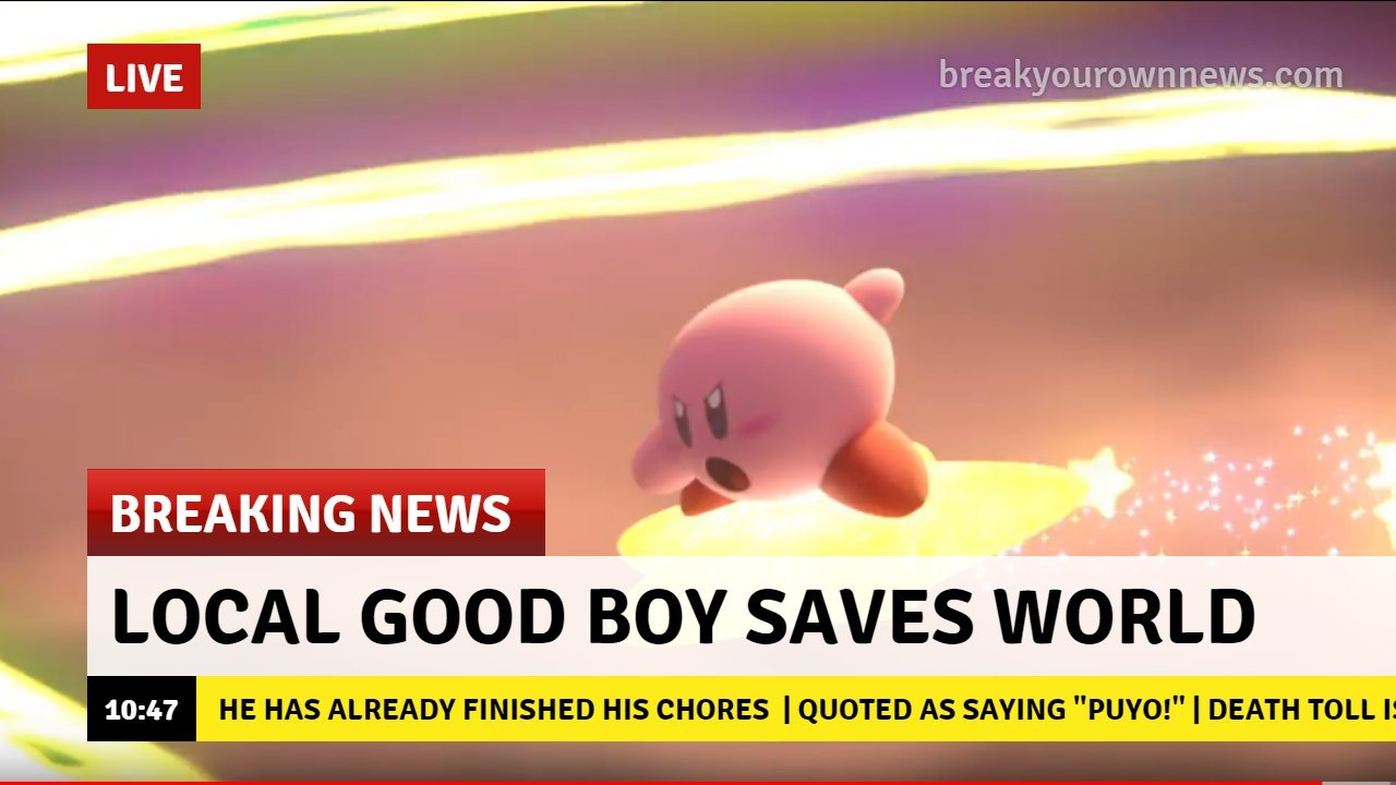 Smash Bros was just a Kirby spin-off game this whole time - meme