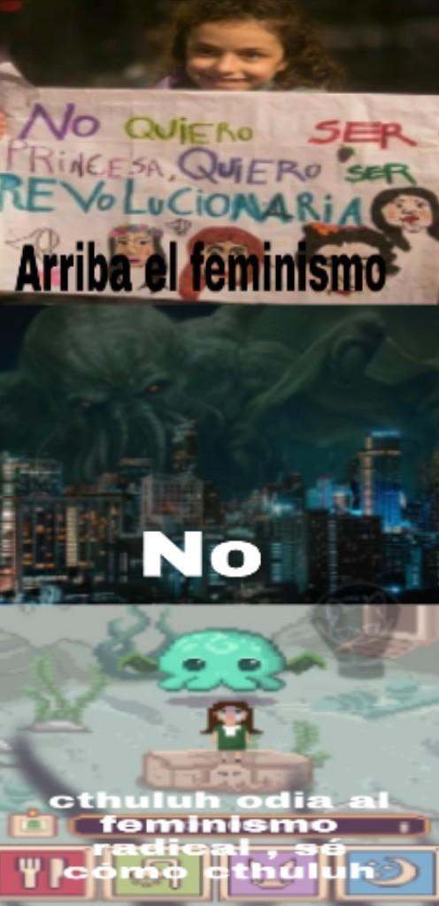 Cthuluh vs. Feminazis - meme