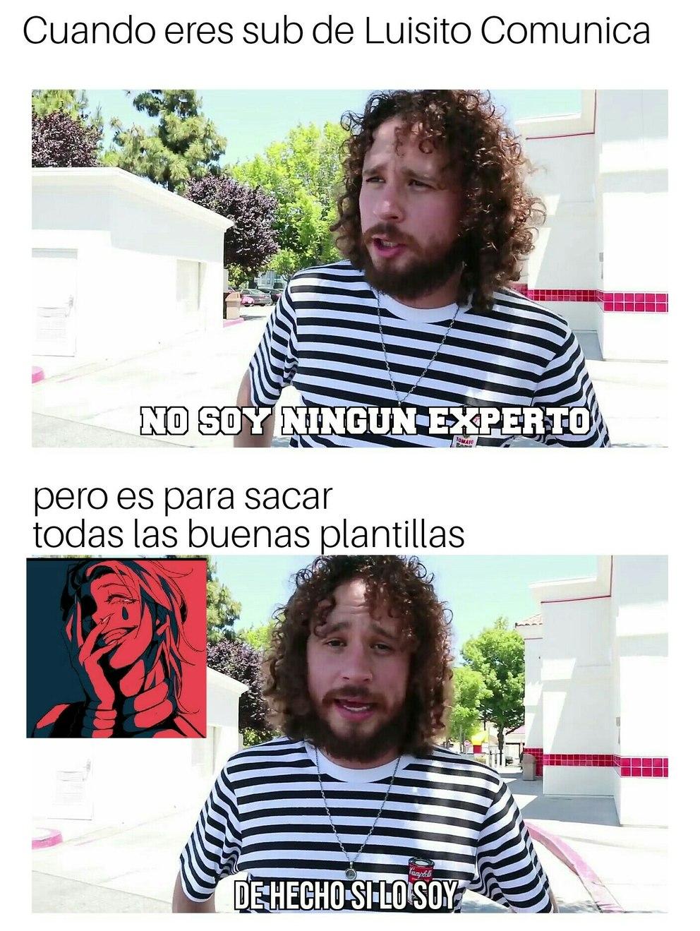 Nueva plantilla de Luisito - meme