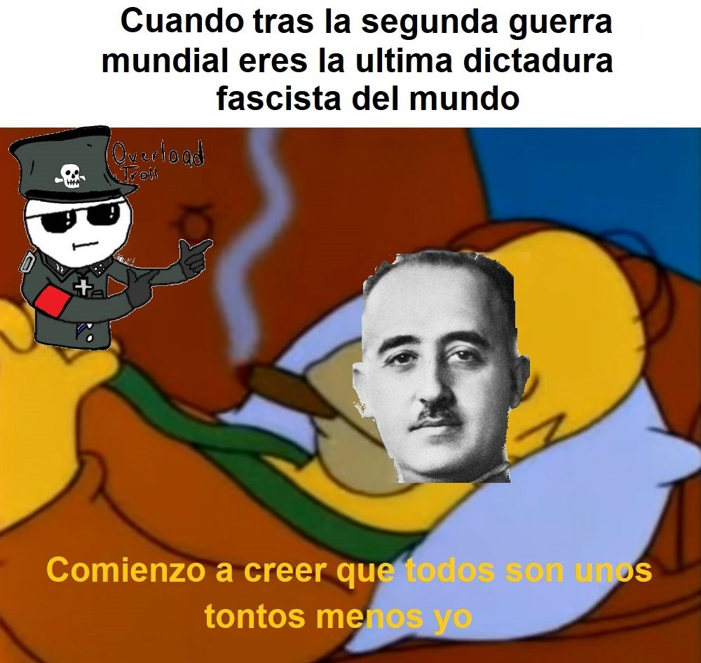 Y Mussolini no logro llegar a España.... - meme