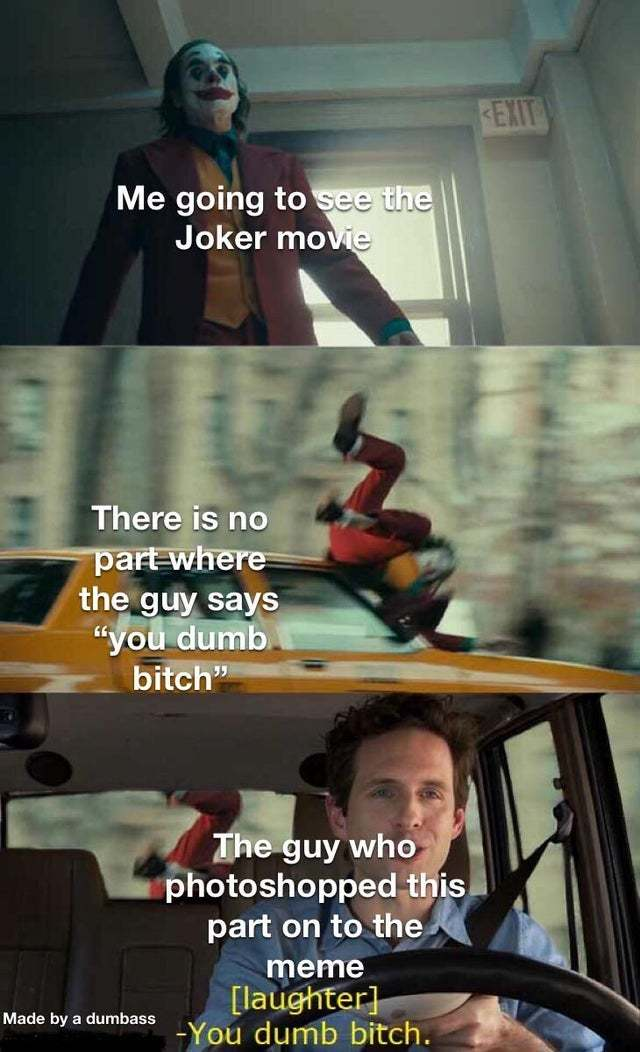 Me going to see the Joker movie - meme