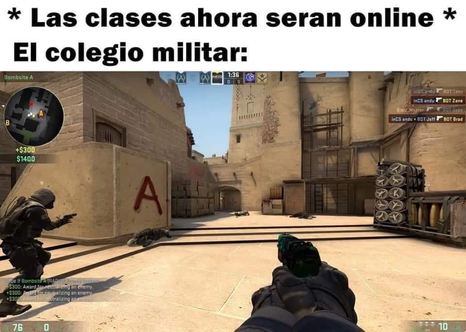 Colegio militar be like - meme
