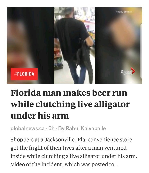 Florida man back at it.. - meme