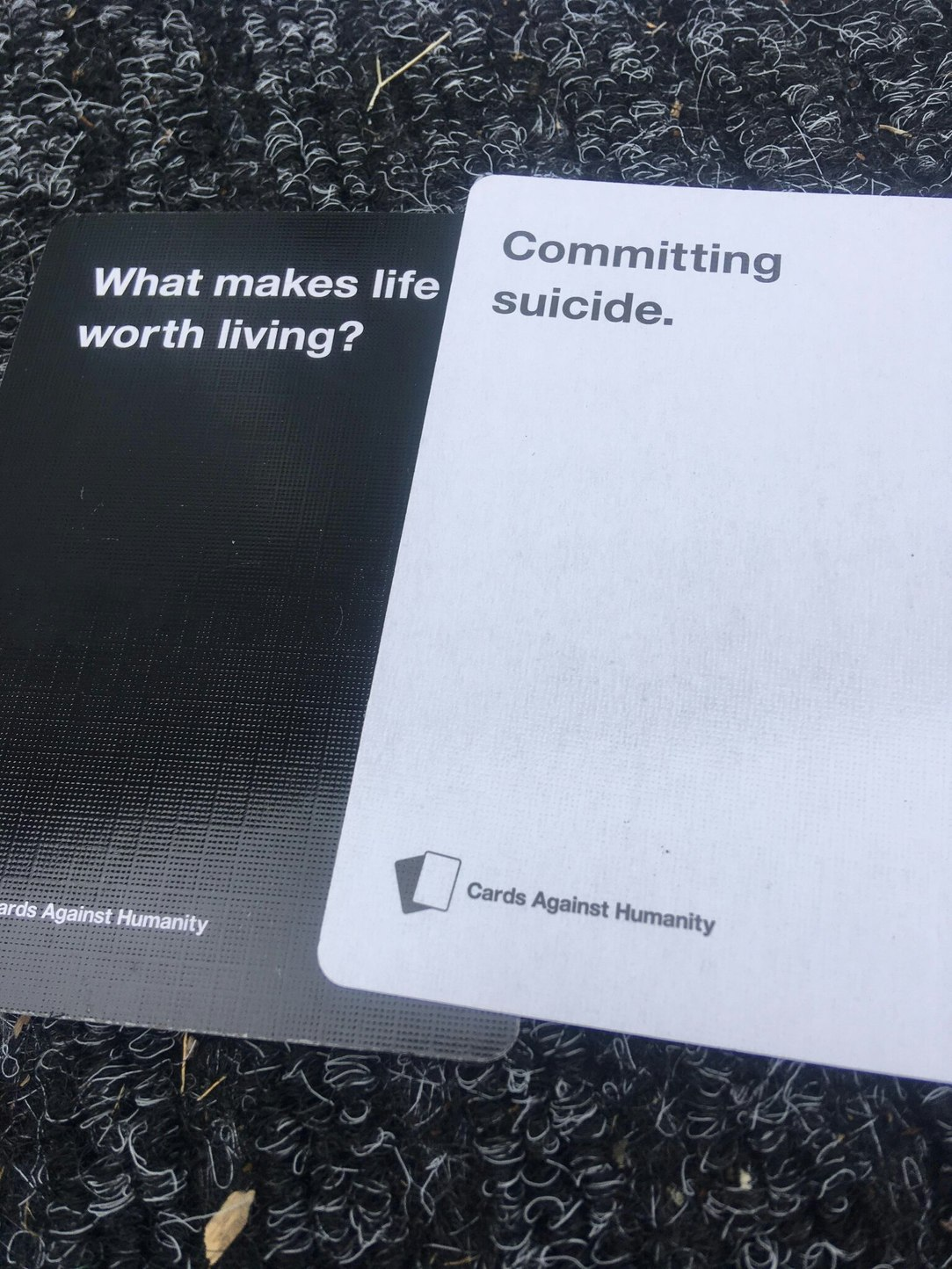cards against humanity is a good game - meme