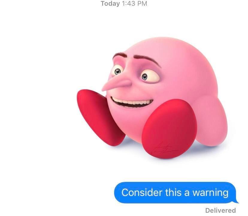 Warned - meme