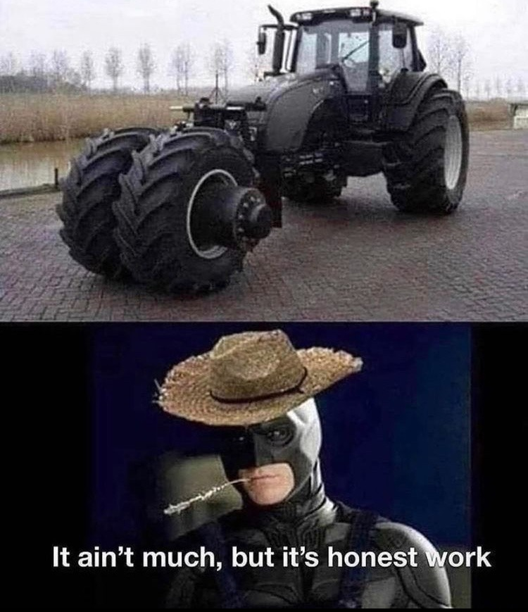 bat tractor - meme