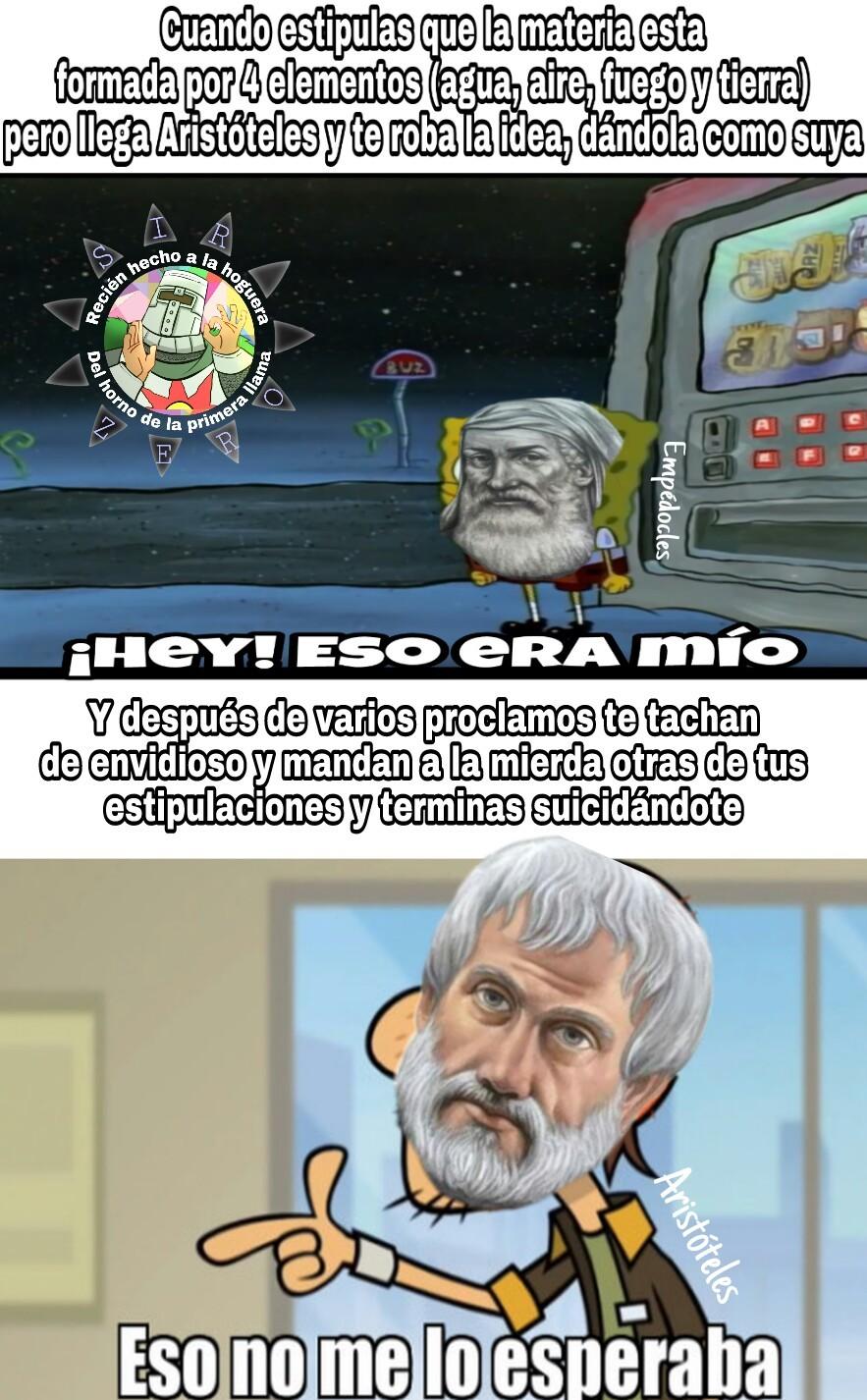 Pobre Empédocles :( - meme