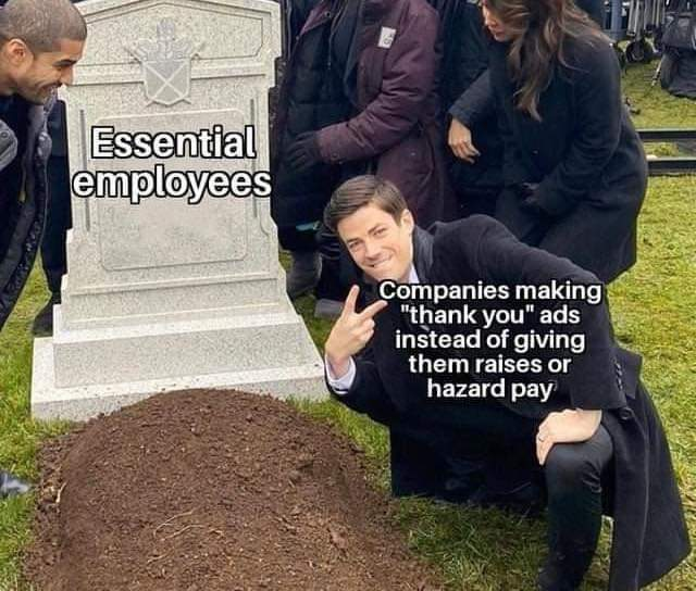 Essential employees - meme
