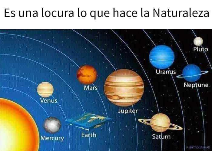Lo que ven los terraplanistas - meme