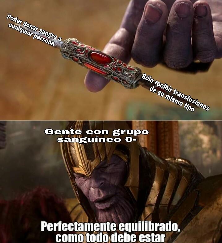 Donante universal - meme