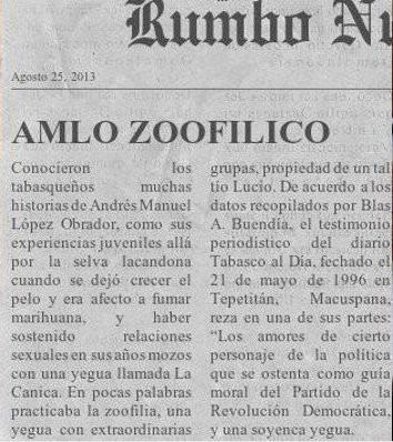 Amlo zoofilico - meme