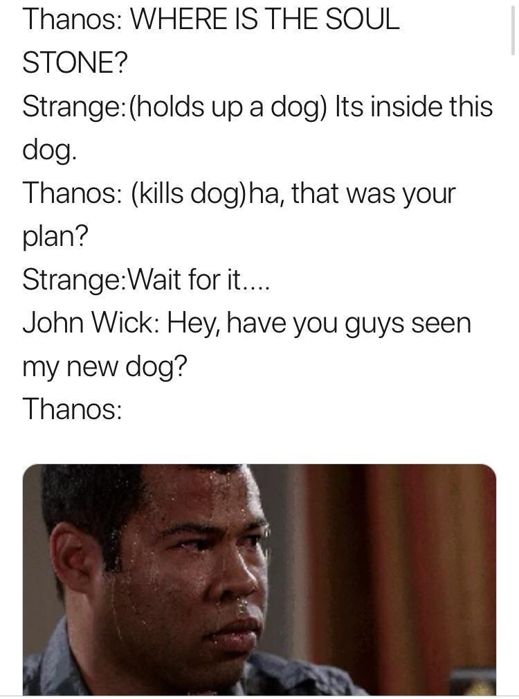 John Wick vs Thanos - meme