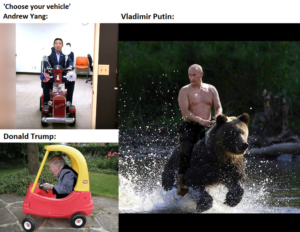 Putin be like: 'Where we're going, we don't need... roads.' - meme