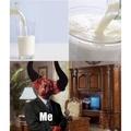 Milk is delicious.