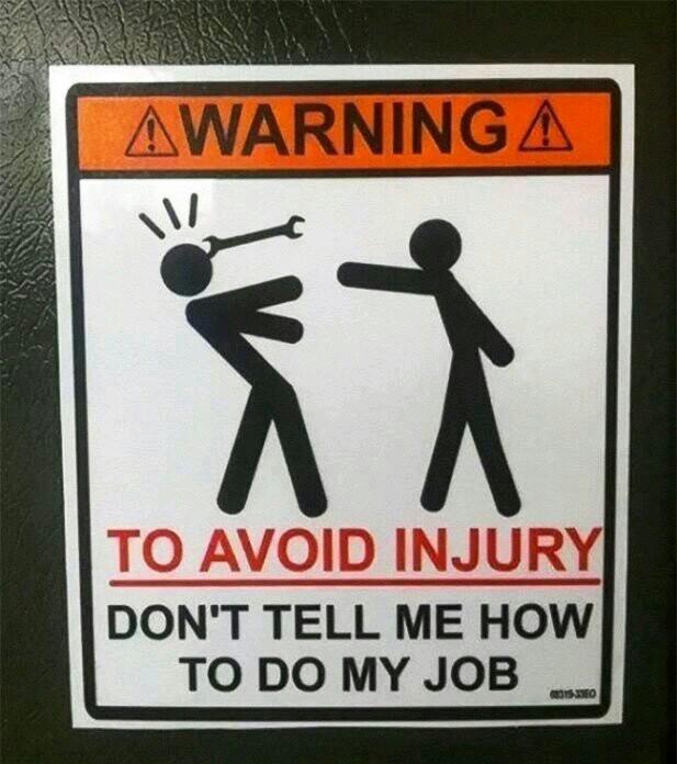 My dads workshop sign - meme