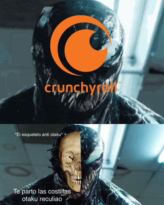 La trampa del esqueleto anti-otaku - meme