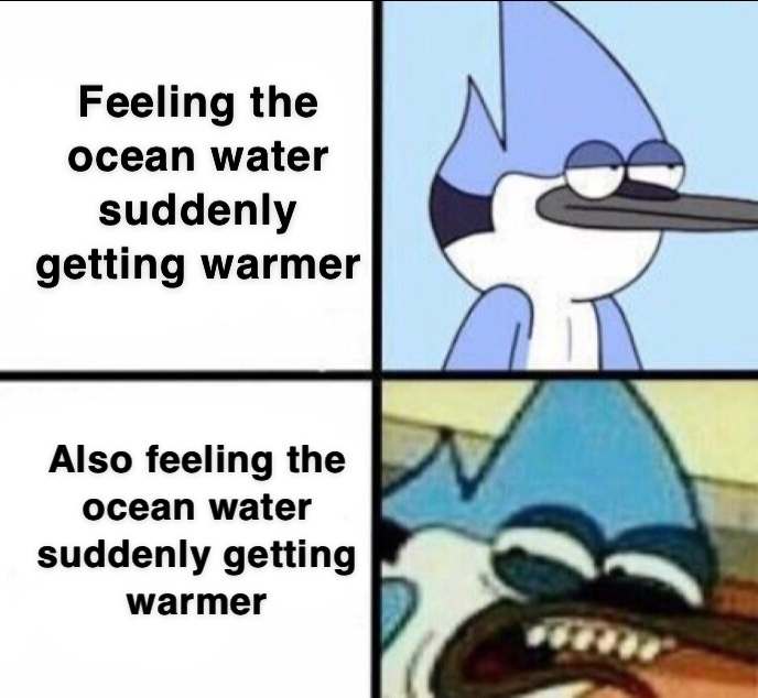 The ocean is scurry - meme