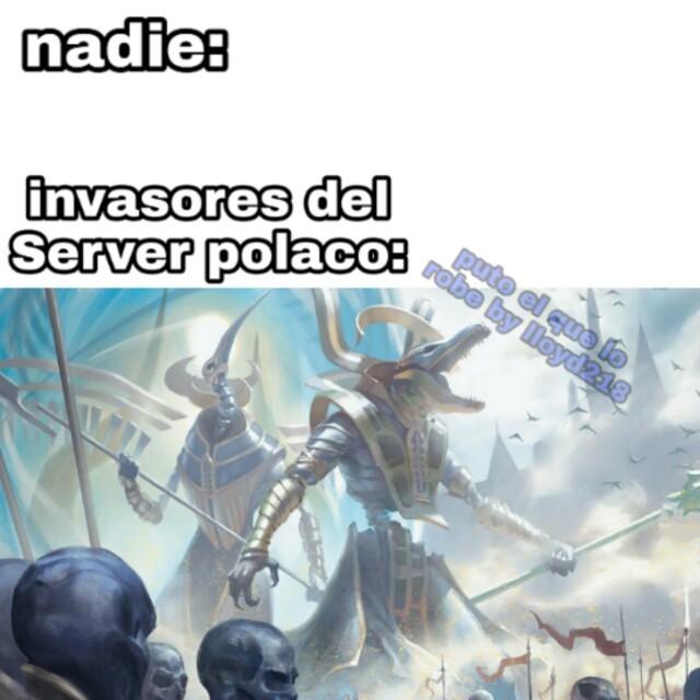 Participe de la falsa invacion - meme