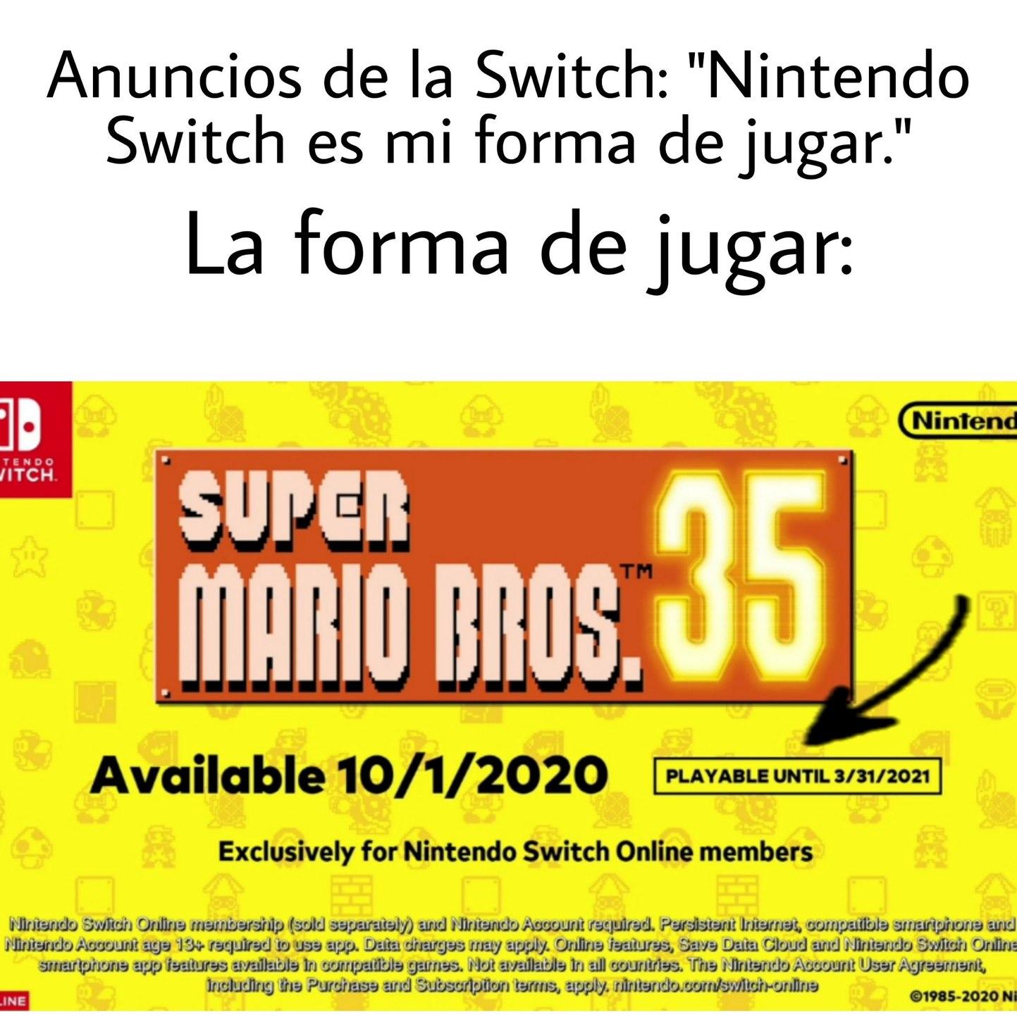 Contexto: Juegos Limitados hasta el 1 de abril - meme