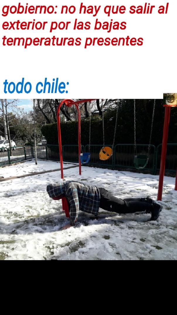 Como 40 años sin nieve en santiago - meme