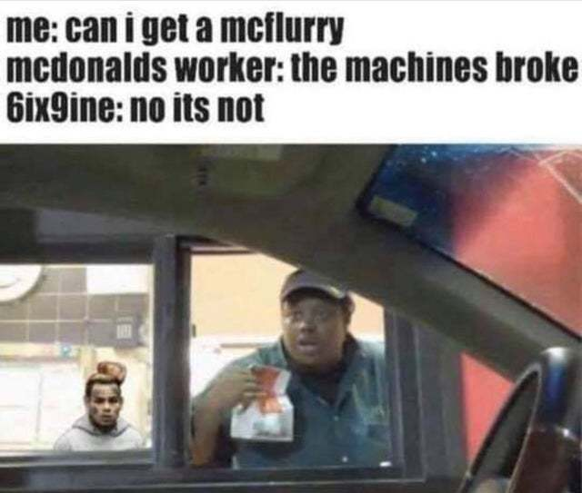 Can I get a McFlurry? - meme