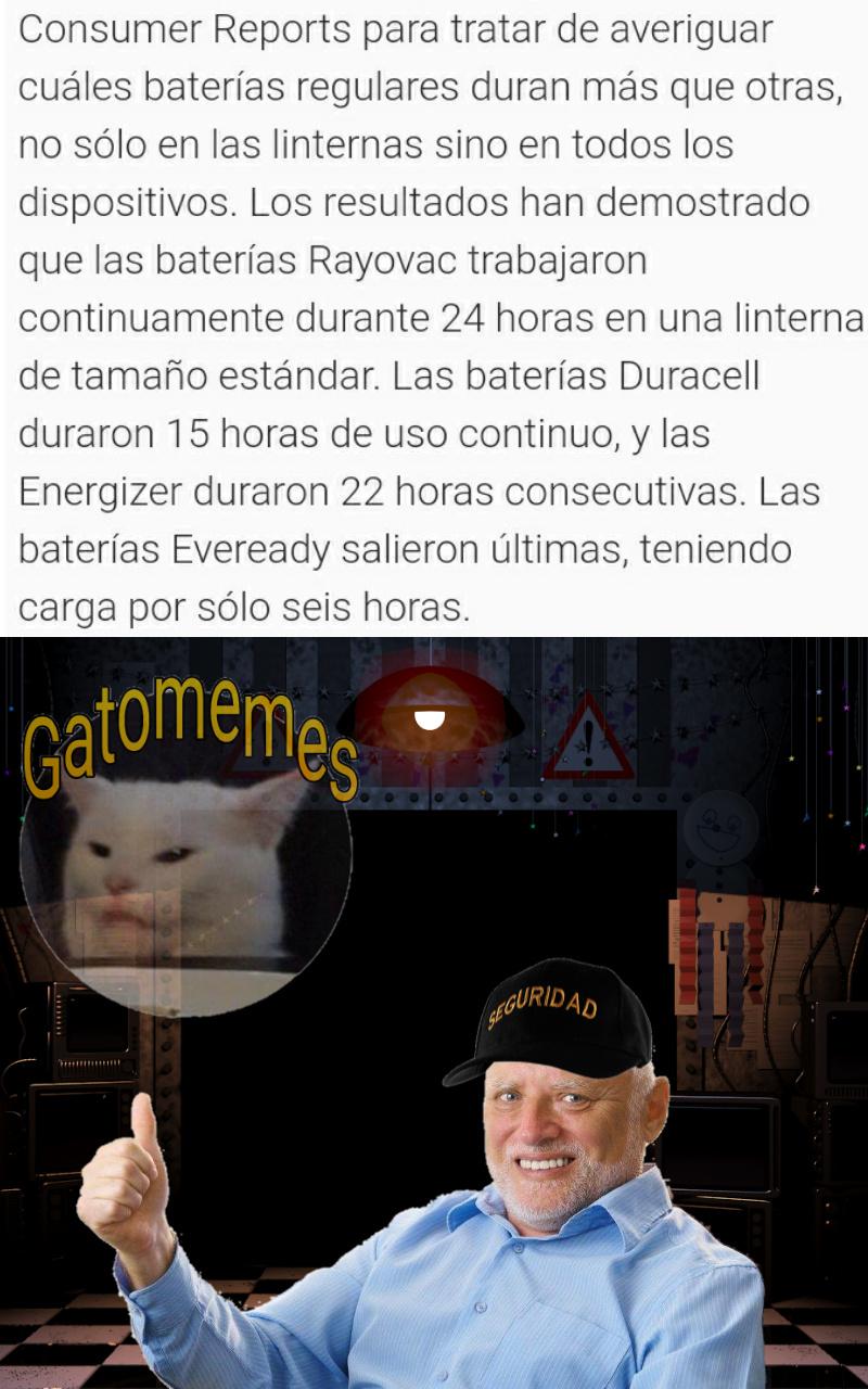 Las baterias del guardia nocturno no duran nada - meme