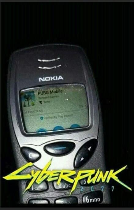 Em 2077, teremos celulares indestrutíveis, (só sendo mesmo) - meme