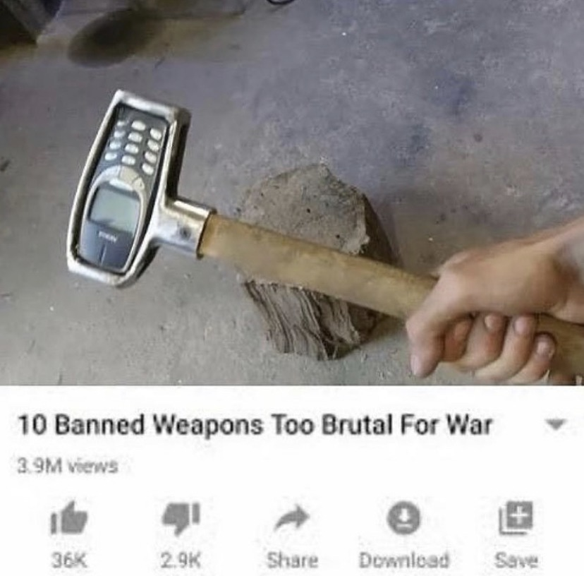 Thank god it got banned not tryna get whacked by that - meme