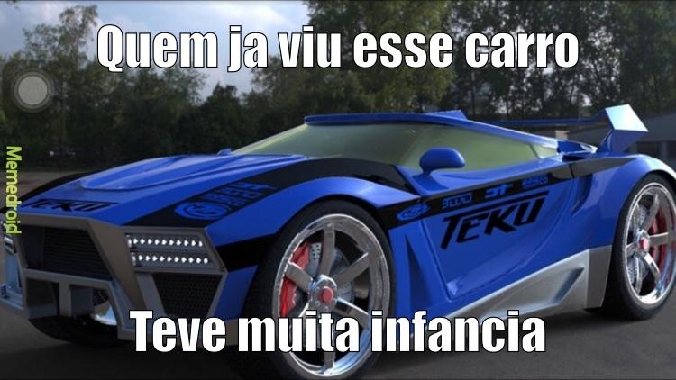 pra quem nao sabe eh hot wheels acceleracers - meme